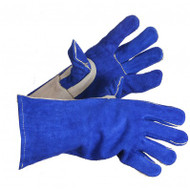 Super Blue Split Leather Kevlar Sewn Lined Welding Gloves | Safetyapparel.ca