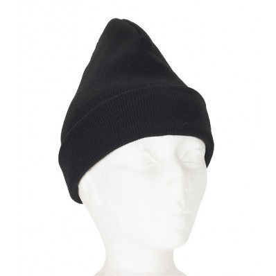 Regular Black Acrylic Knitted Toque | Safetyapparel.ca