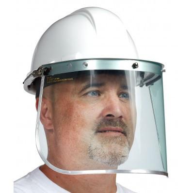Polycarbonate Visor With Aluminum Binding | Safetyapparel.ca