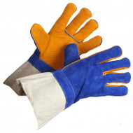 Premium Grade Split Leather Gold Welding Gloves | Safetyapparel.ca