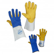 Deer Grain Unlined Split Leather Welding Gloves With Full Back | Safetyapparel.ca