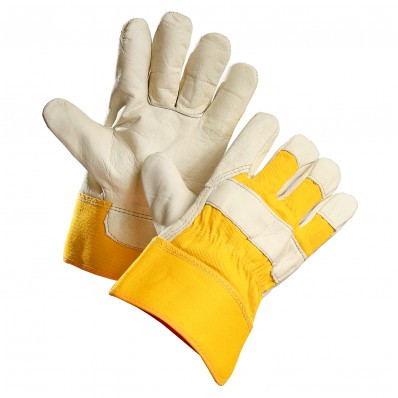 Cowhide Grain Leather Gloves With Removable Fleece Liner  | Safetyapparel.ca