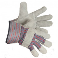 Split Shift Cowhide Leather Fleece-Lined Gloves With PE Cuffs | Safetyapparel.ca