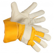 Wild Catter Cowhide Leather Gloves With Rubberized Cuffs | Safetyapparel.ca