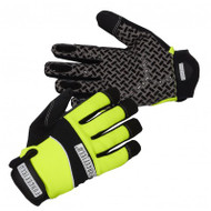 Hi-Vis Spandex-Lined Sticky Silicone Treat Pattern Gloves (Lime) | Safetyapparel.ca