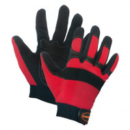 Mechanics Polyurethane Leather Palm Glove With Spandex Liner
