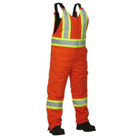 Hi-Vis Cotton Bib Overall | Safetyapparel.ca
