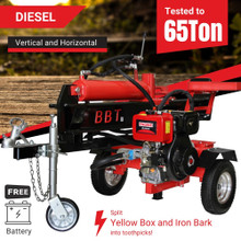 BBT 40/65T Electric Start Diesel Wood Log Splitter