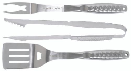 BBQ Tool Set  V8 Stainless Steel