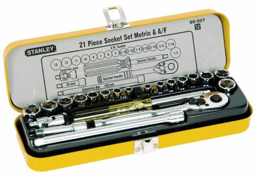 Stanley Socket Set 21pce Metric