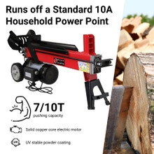 BBT 7/10T Electric Hydraulic Wood Log Splitter Firewood