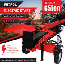BBT 40/65T Electric Start Hydraulic Petrol Log Splitter
