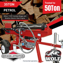 Timberwolf 35/50T Petrol Log Splitter with Briggs & Stratton Electric Start Engine