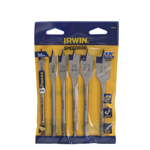 IRWIN 6pc speedbor blue groove Drill set