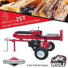 25T Timberwolf Log Wood Timber Splitter 6.5hp Briggs and Stratton