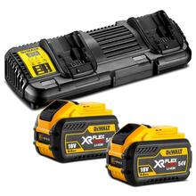 DeWalt DCB132X2-XE 18V-54V Flexvolt Battery Dual Port Charger & 9.0Ah Batteries DCB547-XE