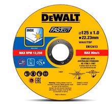 DeWalt 125mm x 1.0 x 22.23mm Thin Cut High Performance Bonded Disc 10pk DT43972-QZ
