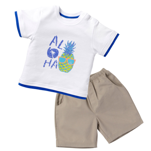 Print Tee & Short Set - Surfin Away