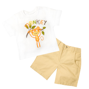 Monkey Print Tee & Short Set - Rumble In The Jungle
