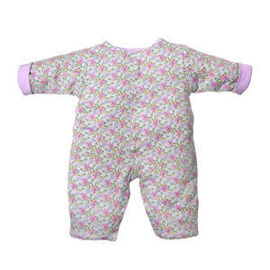 Quilted Coverall - Cool Blooms