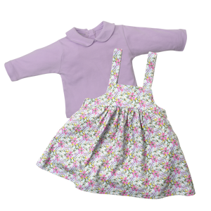 Cross Smock Dress - Cool Blooms