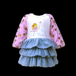 Denim Layer Dress - Fairy Treasures