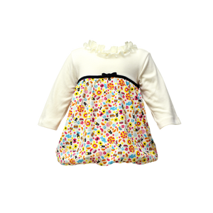 Pointelle Candy Print Dress - Sweets Galore