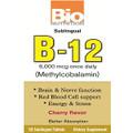 Bio Nutrition Sublingual B-12 - 50 Tablets Cherry Flavor  - Methylcobalamin 6,000 mcg