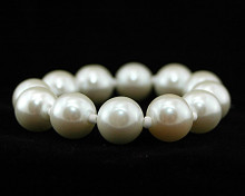White Pearl Stretch Bracelet with Small Beads