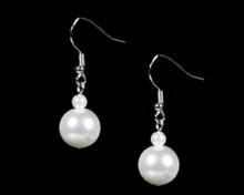 White Pearl Earrings with Small & Large Pearls