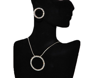 Trendy jewelry necklace earring set Trendy
