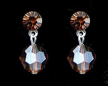 Brown Crystal Earrings (Small)