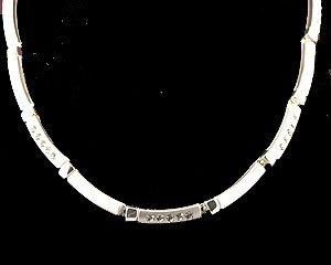 Silver Black Crystal jewelry necklace earring set Mother of the Bride/Traditional Mother of the Bride