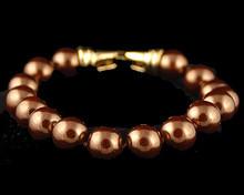 Bronze Pearl Bracelet (Brown) (10mm)
