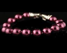 Eggplant color pearl bracelet (purple)