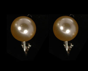 Ivory Pearl jewelry necklace earring set Brides/Ivory Pearl Bridal Jewelry