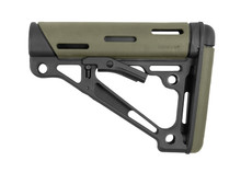 Hogue OverMolded Collapsible Buttstock OD Green Rubber Milspec