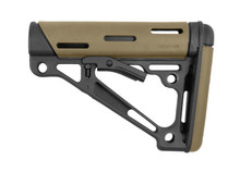 Hogue OverMolded Collapsible Buttstock Desert Tan Rubber Milspec