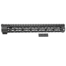 Midwest Industries SS Key-Mod Series One Piece Free Float Handguard 15-inch Rifle - Black