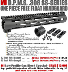 Midwest Industries DPMS .308 SS-Series One Piece Free Float Handguard - 12""