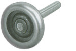 "Steel Roller - 3"" Roller, 4"" Stem, 10 Ball Bearings"