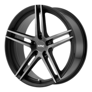 KMC KM703 Wheel 19x9.5 Black Machined w/ Grey Tinted Clear 5x120 45mm Offset - IN CART DISCOUNT!