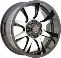 Panther Offroad 578 Wheel 18X9 5x127 5x5 & 5x5.5 5x139.7 Gloss Black Machine 0mm