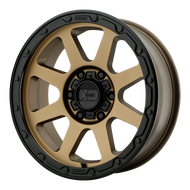 XD Series Addict 2 XD134 Wheel Matte Bronze W/ Black Lip 18x8.5 8x6.5 (8x165.1) 0mm  - FREE LUGS & IN CART DISCOUNT!!