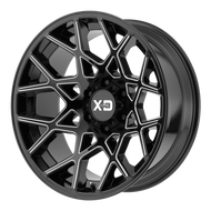 XD Series Chopstix XD831 Wheel 20x10 Gloss Black Milled 8x170 -24mm  - FREE LUGS & IN CART DISCOUNT!!