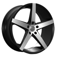 Rosso Affinity 705 Wheel 22x8.5 Black Machined 5x115 15mm Offset