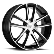 Platinum Gemini 436U Wheel 16x7 Black Diamond Cut 5x108 & 5x4.5 (5x114.3) 40mm