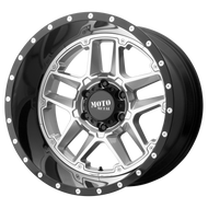 Moto Metal® Sentry MO987 Wheels Rims 16x8 8x6.5 (8x165.1) Silver Center w/ Black -6  | MO98768080406N
