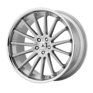 Asanti® Beta ABL24 Wheels Rims 22x10.5 5x115 Brushed Silver Chrome Lip 25 | ABL24-22051525SL