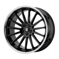 Asanti® Beta ABL24 Wheels Rims 22x10.5 5x4.5 (5x114.3) Gloss Black w/ Chrome Lip 35 | ABL24-22051235BK
